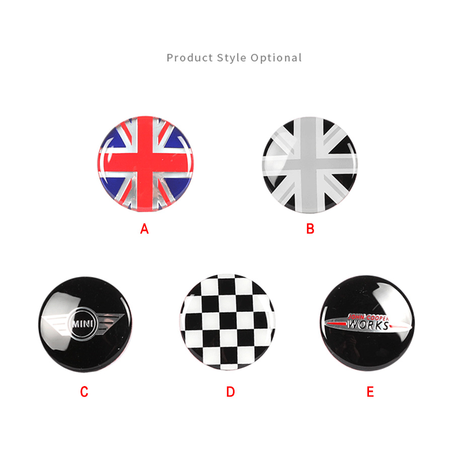 4Pc car sticker 56mm 3D Emblem Wheel Center Rim Hub Caps Cover Stickers For BMW MINI COOPER COVER KEY R53 F55 F56 F54 Countryman in Car Stickers from Automobiles Motorcycles