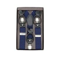 3.5cm dual use Adult casual 6 clip suspend buckle strap solid lattice polka dots wedding accessories adjustable suspender