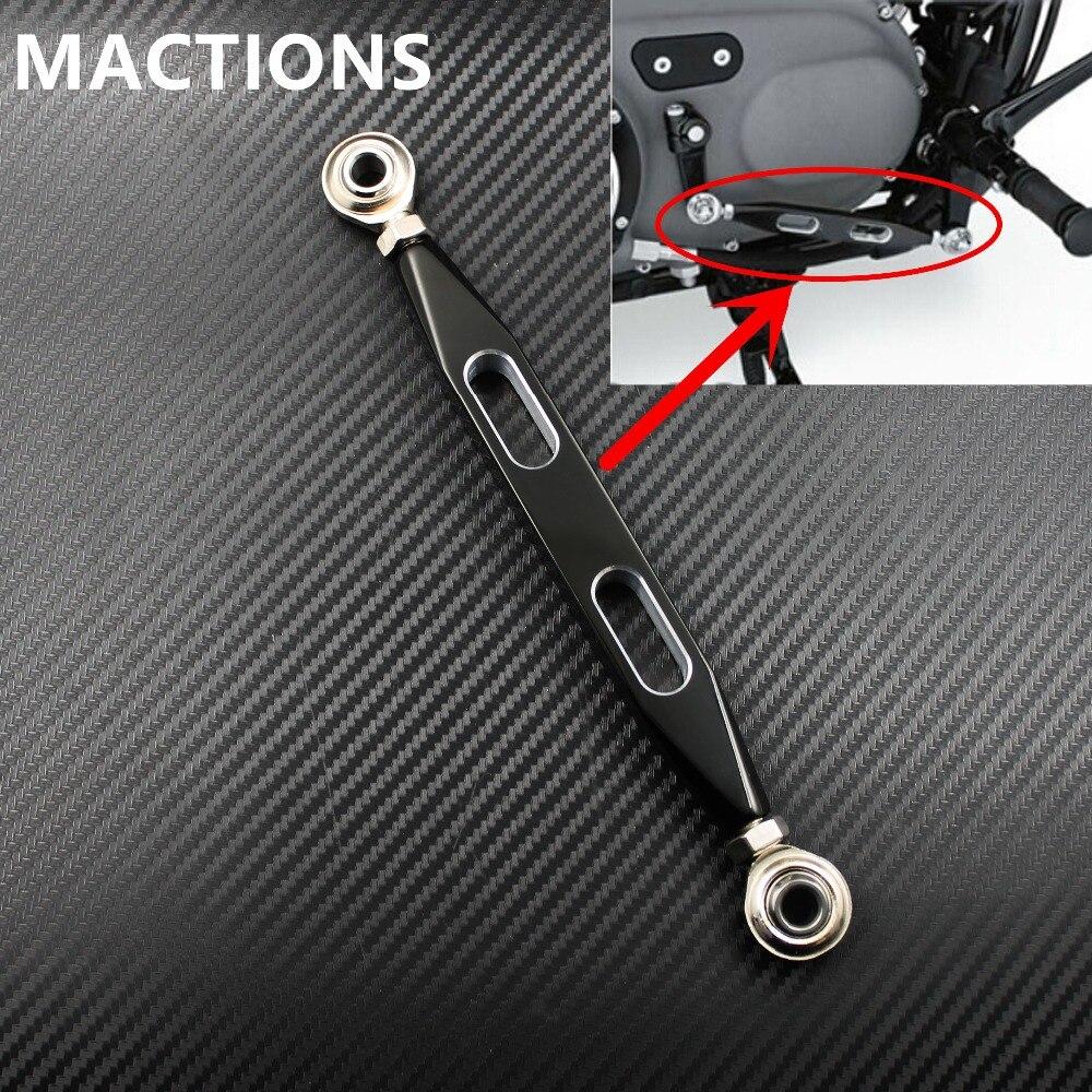 Motorradteile Schwarz CNC Schalthebel Schaltgestänge 220mm Für Harley sportster 883