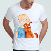 2017 Zomer Super Leuke 3D Hond Ontwerp T-shirt mannen Grappig Dier Graphics Gedrukt Tops Hipster Tees