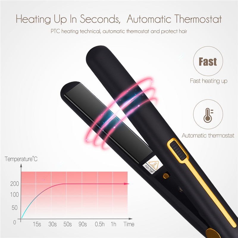 2 in 1 Constant Temperature Professional Hair Straightener Curler Thermostatic Flat Iron Curling Tong Styling Tools 110~240V P45