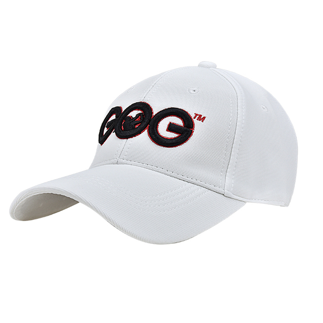 6049522320c 2017 New Free Shipping White GOG golf Caps Professional cotton golf ball cap  High Quality sports