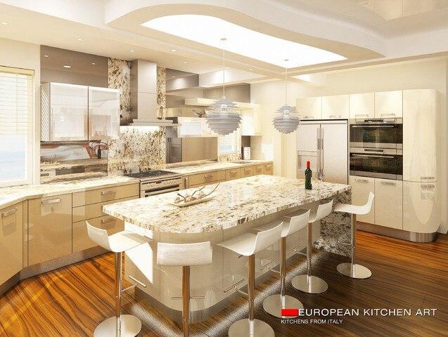 2017 disegno libero su misura high gloss lacquer armadi da cucinachina mainland