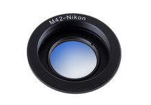 Metal Black Camera Lens Adapter Ring with Glass M42 Thread Mount Lens for Nikon D3200 D3300 D5100 D5200 D5500 D7100 D90 (M42-AI)