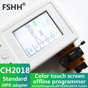 Image 4 - CH2018 Color screen offline programmer SPI programmer 24/25/93EEPROM DATA SPI FLASH