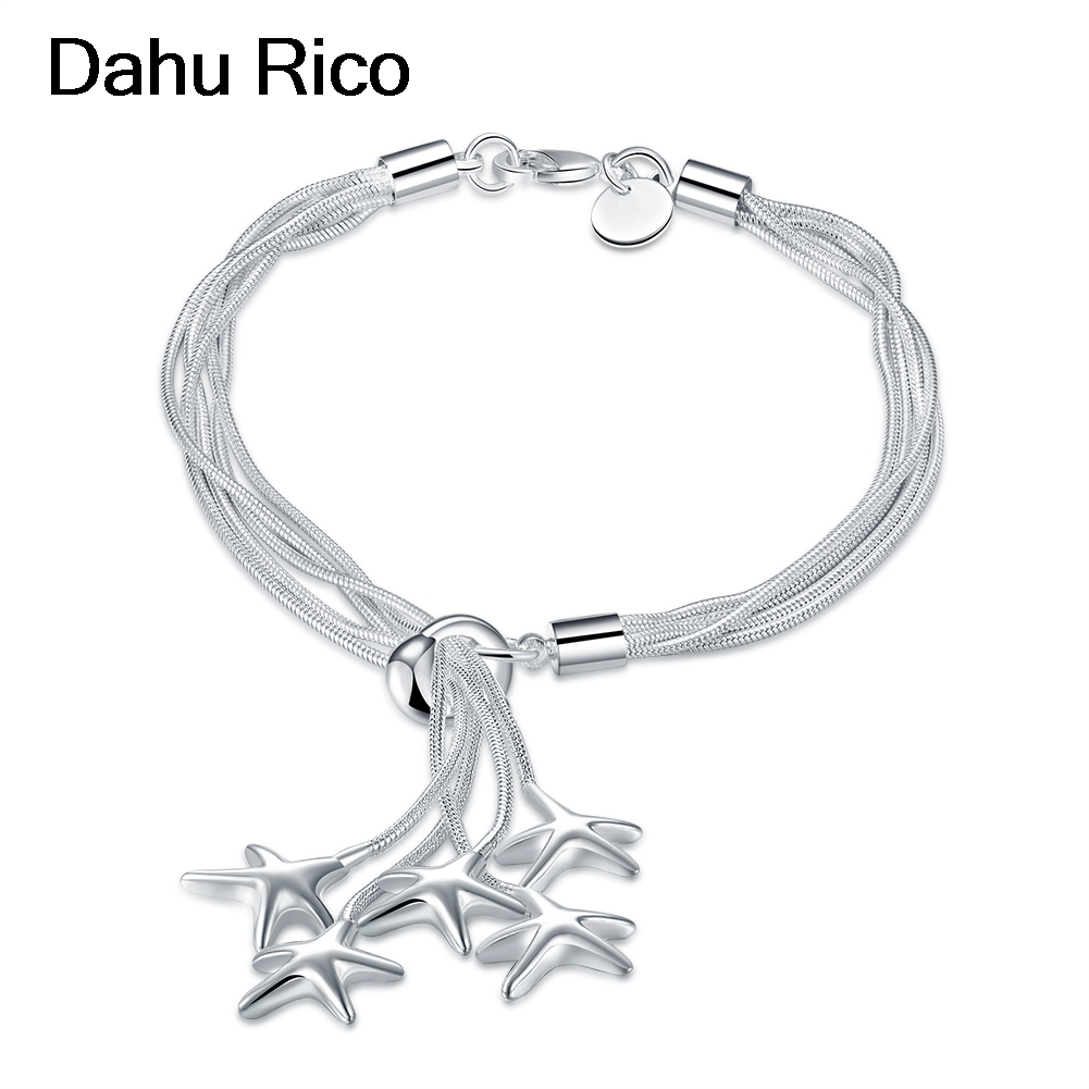 hanging stars estrellas bracciali arm bracelet de boda bijoux mariage fathers day men 20cm zilver cuba elega Dahu Rico bracelets
