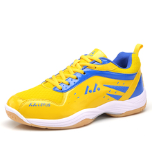 New Mens Badminton Shoes Big Size Badminton Sneakers Sport Blue Yellow Training Man Mhoes Anti slippery