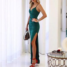 Women clothes 2019 Sexy Hanging Banquet Dresses with Open Forks Summer New Womens in Spring and