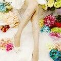 El nuevo y exclusivo diamante medias de flores hechas a mano Moda slim color caramelo medias panti medias de perforación caliente