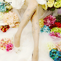 The new exclusive diamond tights handmade flowers pantyhose drilling hot tights Fashion slim candy-colored tights