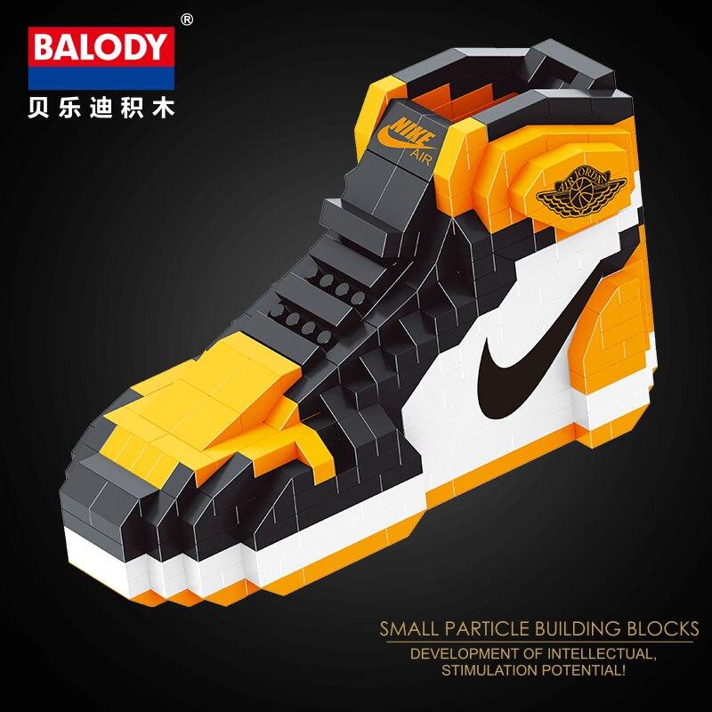 Brillant 2018 Balody Nouvelles Chaussures De Sport Mignon Blocs De Construction Nano Diamant Briques Jordan Basket-ball Chaussures Jouets éducatifs Pour Les Enfants 18076-4 Prix De Vente Directe D'Usine