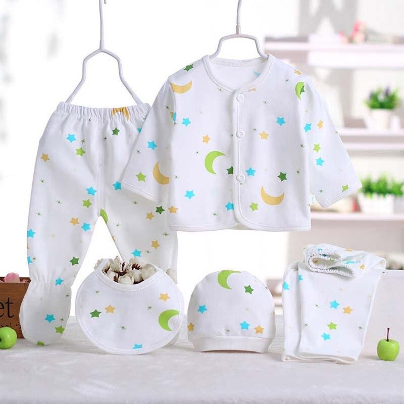5pcs Set Newborn Baby Sets Infant Clothing New Born Baby Clothes Soft Kids Clothes For Boys Girls Unisex Baby Clothing Set Amazingstore4u