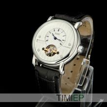 Blanco de lujo de Los Hombres Tourbillon Calendario Mecánico Automático Para Hombre Relojes de Pulsera