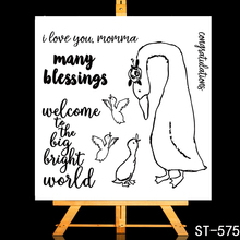 ZhuoAng Beautiful swan Transparent and Clear Stamp DIY Scrapbooking Album Card Making Decoration