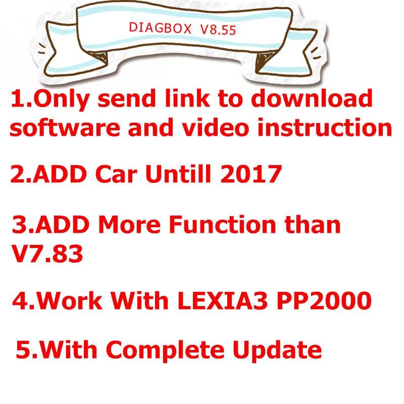 2019 NEW Lexia 3 Diagbox V8.55 Version Add More Car Models For Citroen/for Peogeot Than V7.83 LEXIA3 Diagbox 8.55