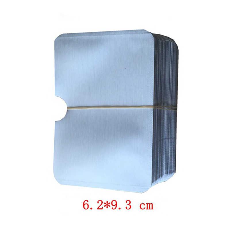 1/10/100 pièces 9.6*6 cm Aluminium Anti Rfid portefeuille bloquant lecteur serrure porte carte bancaire ID porte-cartes de banque Protection métal