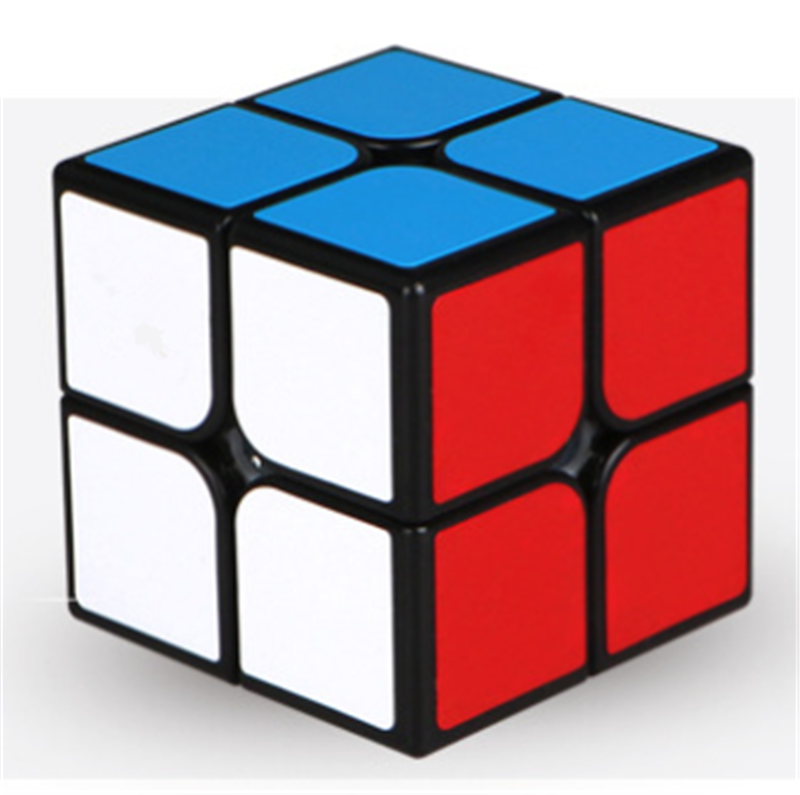 Cube 2X2 Magic Cube 2 By 2 Cube 50mm Speed Pocket Sticker Puzzle Cube Professional Educational Toys For Children Use For Match(China)