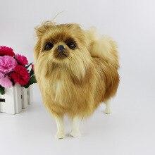 20 см реалистичные померанские мягкие игрушки милые моделирования Золотая собака домашнее животное плюшевые игрушки Щенок Плюшевые животные игрушки на день рождения рождественские подарки