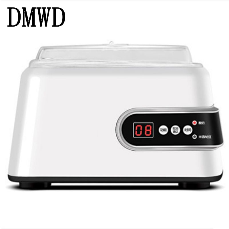 все цены на DMWD Electric Yogurt Maker Automatic Multifunction notto rice wine leben Yoghurt Machine Stainless Steel Liner with 5 cups 1.3L онлайн