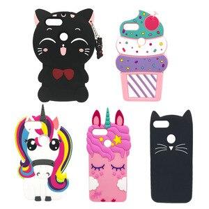 Для Huawei Y6 Pro 2017/Nova Lite 2017/P9 lite мини Мягкий силиконовый чехол для телефона милый 3D пони Единорог Розовая лошадь кошка мультяшный чехол