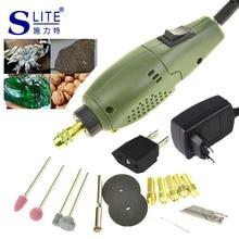 Slite 24W Electric Mini Grinder Dremel Grinding Set Power Tool Accessories DIY Engraver Carve Kit 110v-240v Die