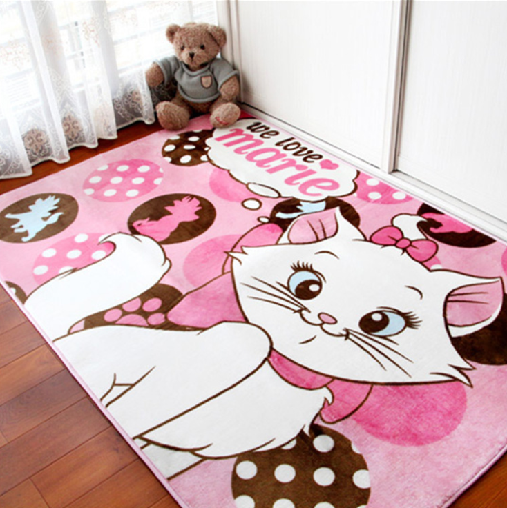 Pink Cat Baby Play Mat Crawling Mat Surface Baby Carpet