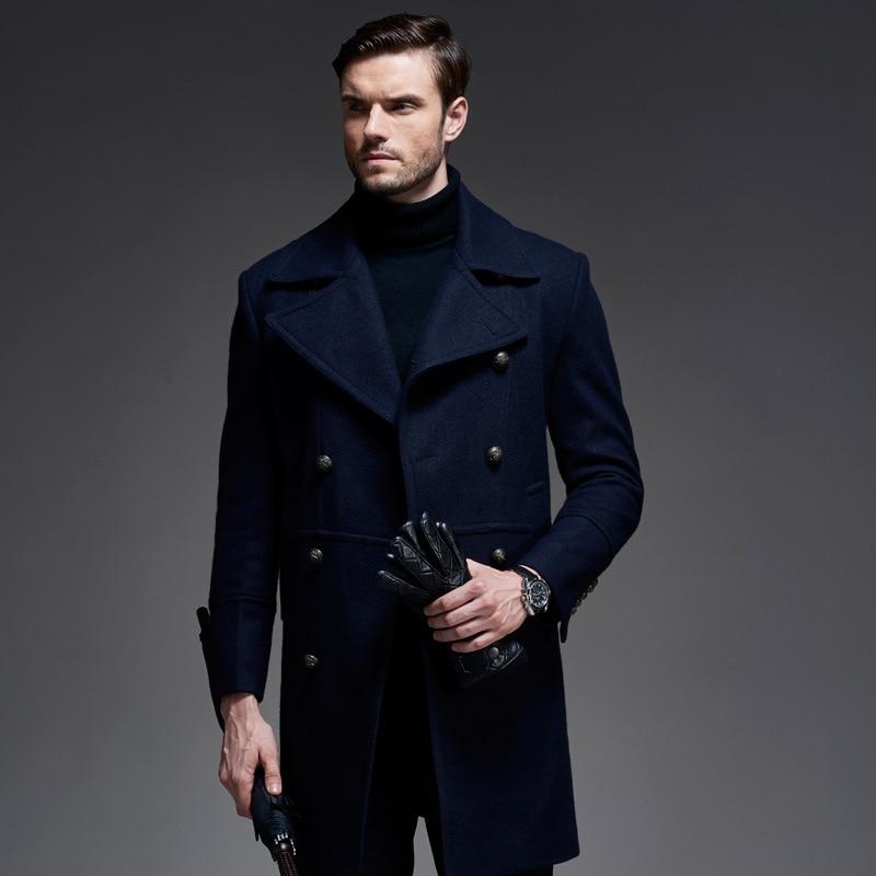 Thintenda 2017 New England Style Coat For Men Winter Long
