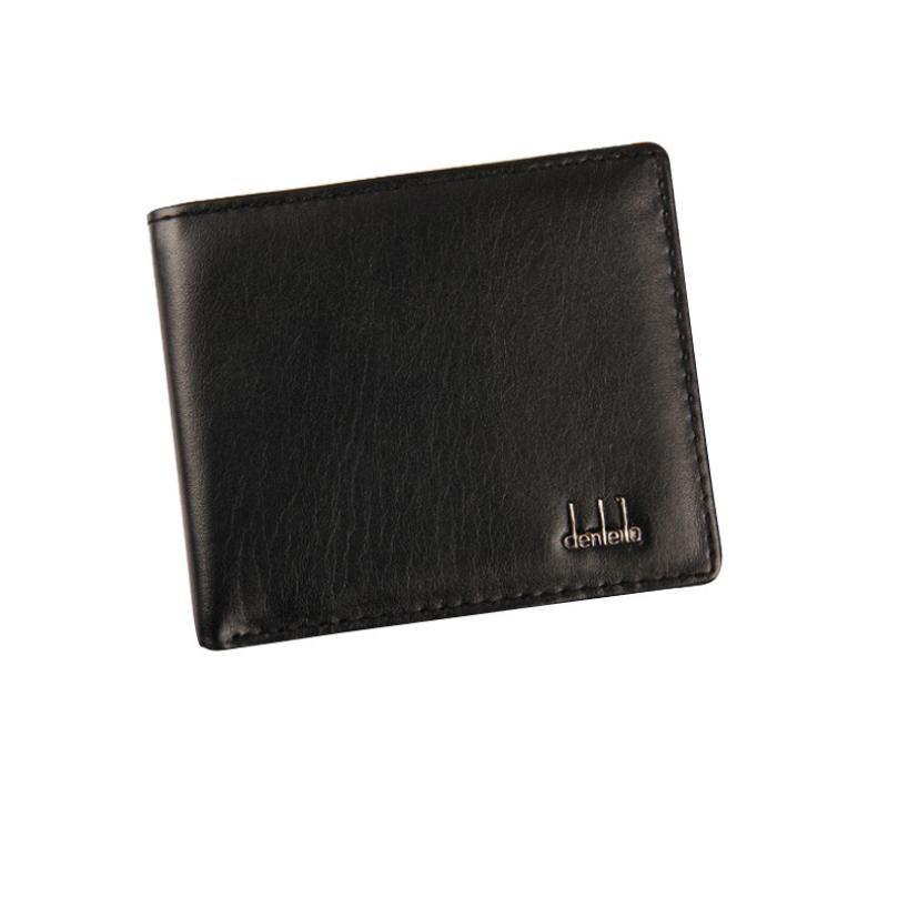 Men Bifold Business Leather Wallet ID Credit Card Holder Purse Pockets Designer Wallets High Quality