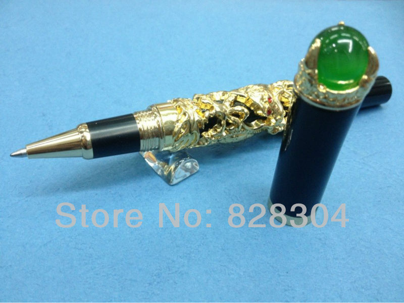 JINHAO GOLDEN DRAGON KING PLAY PEARL ROLLER BALL PEN OVERLORD FREE SHIPPING