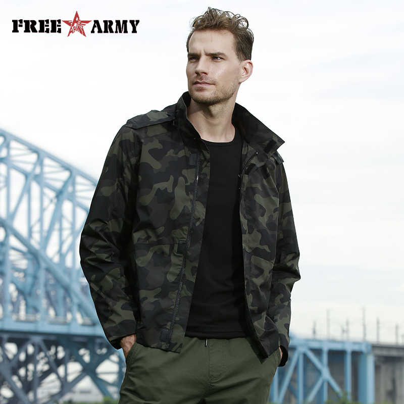 be36455971703 FreeArmy New Autumn Men Jackets Hooded Clothes Tactical Military Jacket  Coats Rib Sleeve Print Outerwear Quality