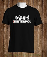 Printed Men T Shirt Clothes Black T Shirt Interpol Turn On The Bright Lights Rock Band