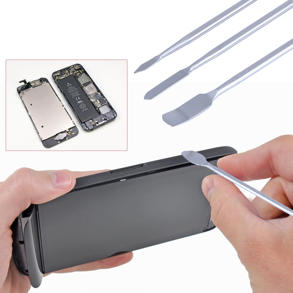 Universal 3 pcs/set Metal Spudger Mobile Phone Repairing Opening Tools for iPhone for Samsung Laptop Tablet Smartphone 3pcs set ferramentas smartphone tools metal spudger mobile phone laptop tablet repairing opening tools