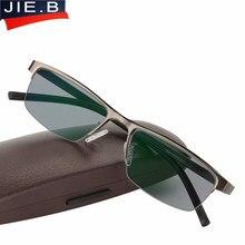 6a4455991 Aço inoxidável óculos de Sol Homens Óculos De Leitura Presbiopia Óculos de  dioptrias Fotocromáticas Transição leesbril gafas de .