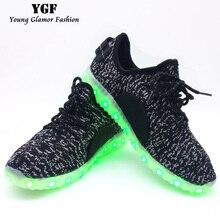 Светящиеся аккумуляторная огни взрослых красочные led обувь свет usb мужчины женщины