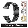Faixa de relógio de aço inoxidável para iwatch apple watch band strap link pulseira com adaptador 42mm 38mm
