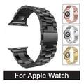 Venda de reloj de acero inoxidable para iwatch apple watch band atar con correa de pulsera con adaptador de 42mm 38mm