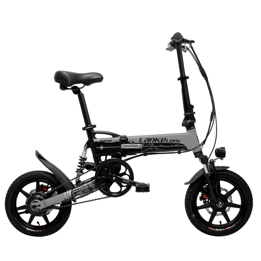 G100 Mini Folding Electric Bike, 400W, 36V/8.7A, 14 Inches E Bike, Disc Brake, Removable Battery, Magnesium Alloy Rim