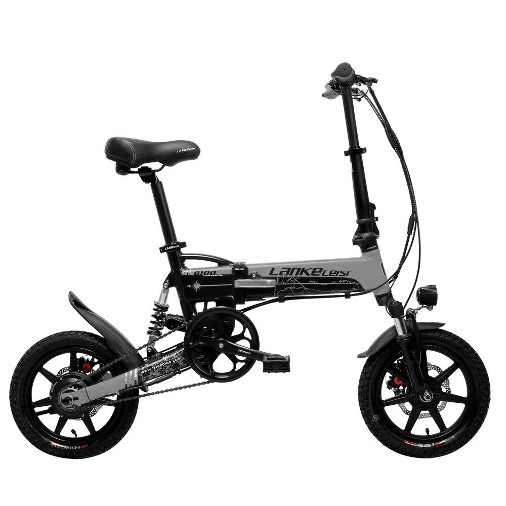 G100 Mini Folding Electric Bike, 400W, 36V/8.7A, 14 Inches E Bike, Disc Brake, Removable Battery, Magnesium Alloy Rim