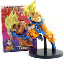 NEW 20cm Dragon Ball Z Goku Figure Toy Son Goku Jump 50th Anniversary Anime DBZ Model Doll Gift for Children Action Figure Toys japan anime dragonball dragon ball z original megahouse desktop real mccoy complete toy figure son goku 01 repaint no 02