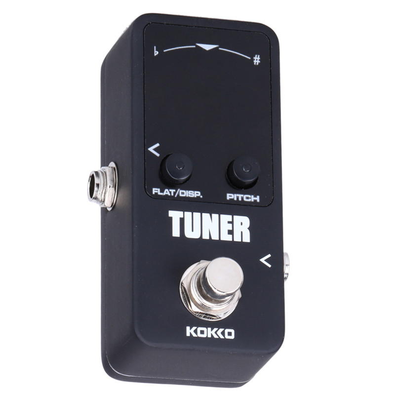 KOKKO TUNER MINI Electric Guitar Pedal Tuner Effect Device Dual Display For Guitarra Bass Guitar Violin Ukelele Instruments Part kokko fbs2 mini guitar effect pedal guitarra booster high power tube electric guitar two segment eq effect device parts