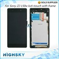 Test Screen With Frame Buttons For Sony Z2 LCD Xperia L50w D6503  Display With Touch Screen Digitizer 1 Piece Free Shipping