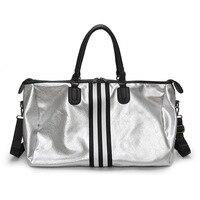 Gym Fitness Bags Sports Training Shoulder Bag Waterproof PU Sac De Sport Gym Bags Men Large Capacity Outdoor Travel Handbags
