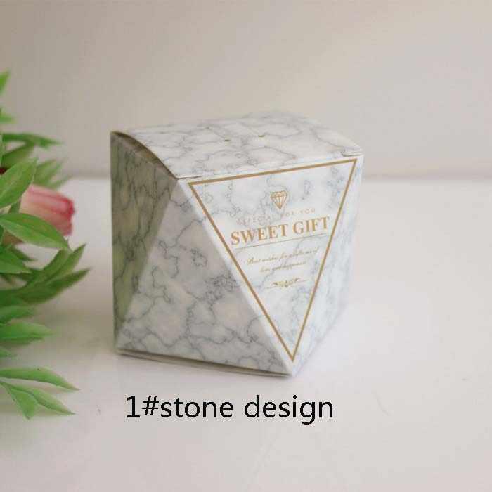 Materiały festiwalowe pudełko na cukierki pudełko na czekoladę opakowanie na prezent na urodziny Wedding Party favor Decor DIY kamień naturalny Wh