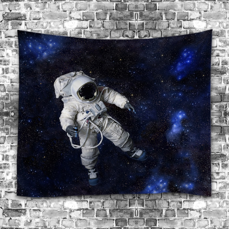Universe Astronaut Tapestry Wall Hanging Drop Throw Mandala Tapestry Pineapple Telephone Booth Whale Snowy Mountains Jungle