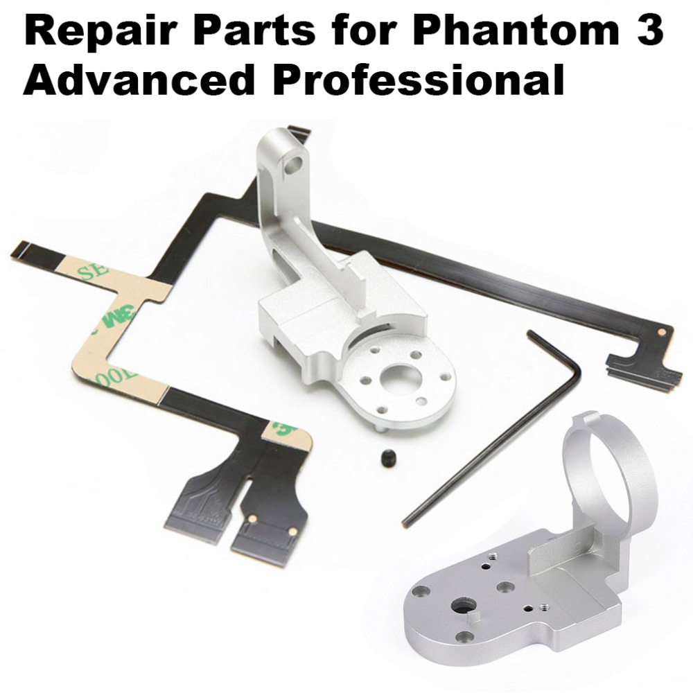 Repair Parts for DJI Phantom 3 Adv Pro 4K P3A P3P Drone Gimbal Camera Yaw Arm Roll Bracket Flat Ribbon Cable Flex Gimbal Mount