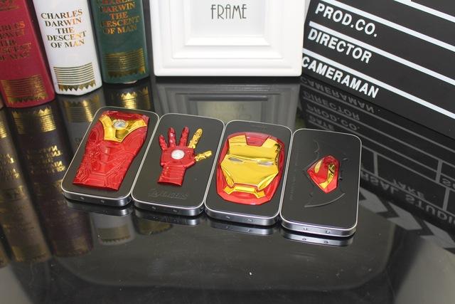 Novo luxo homem de ferro braço banco do poder 12000 mah móvel powerbank bateria portátil externa para iphone6 6 s samsung s5 s6