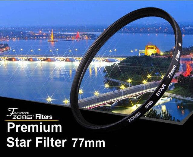 Премиум Оригинал Zomei 77 мм Профессиональный Звезда Фильтра 6 Точка Линии 6PT для Canon Eos Nikon Sony Pentax Olympus DSLR Камеры объектив