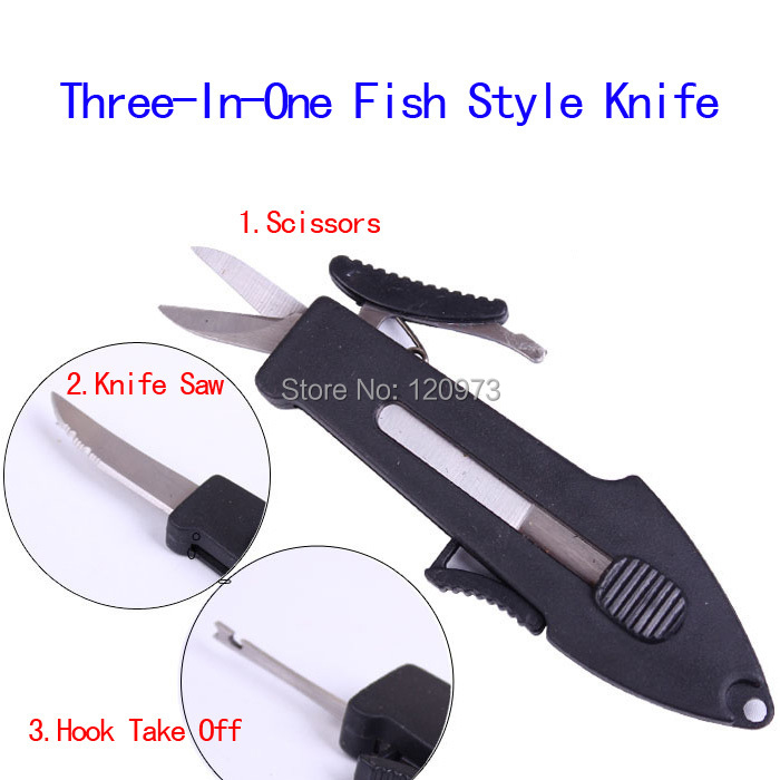 Three In One Multifunctional Fishing Knife Scissors Knife Saw Hook Take Off Device Outdoor Fishing Tackle Tool