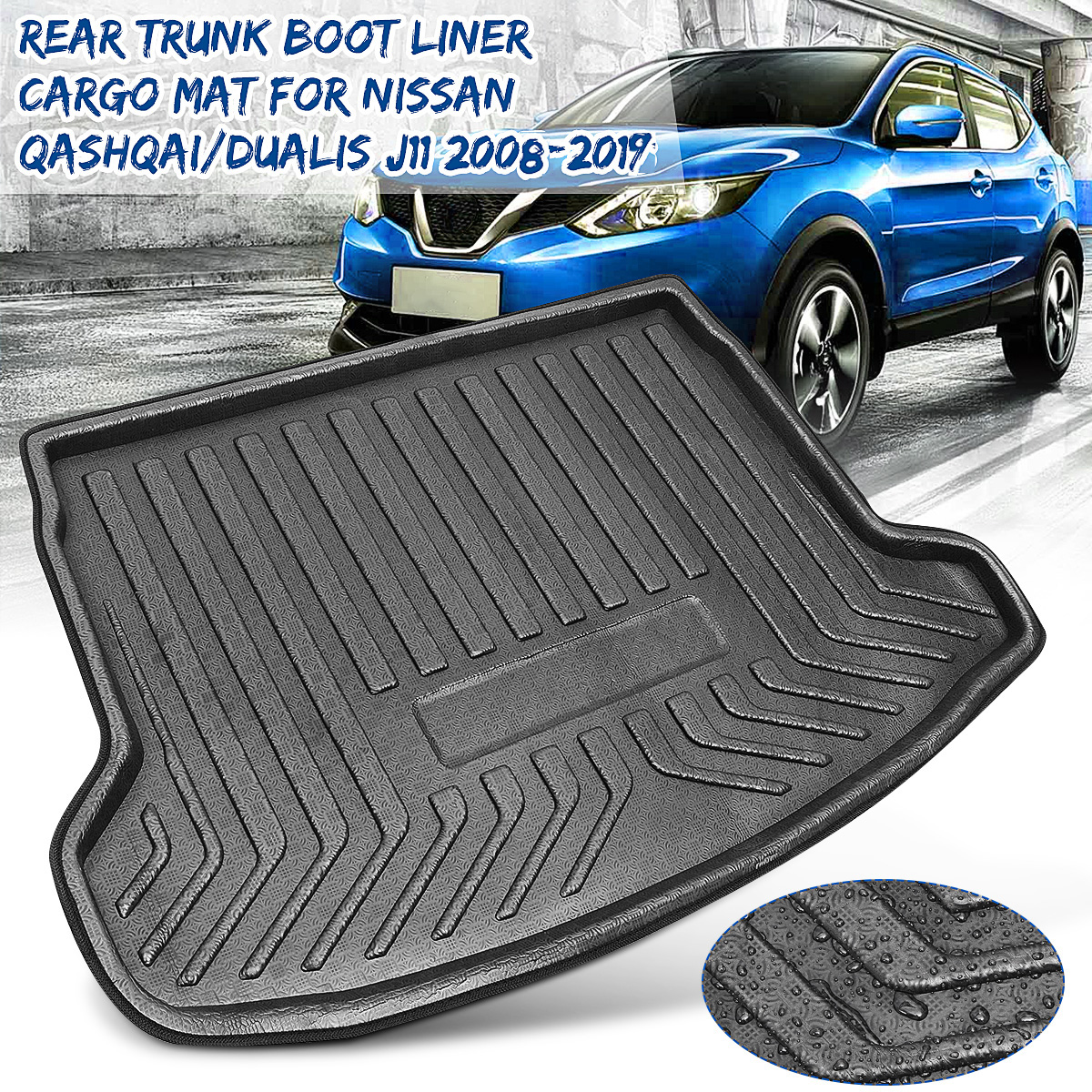 Rear Cargo Boot Liner Trunk Floor Mat Tray Carpet Mats Mud Kick For Nissan Qashqai / For Dualis J11 2008 2009 2010 2011-2019