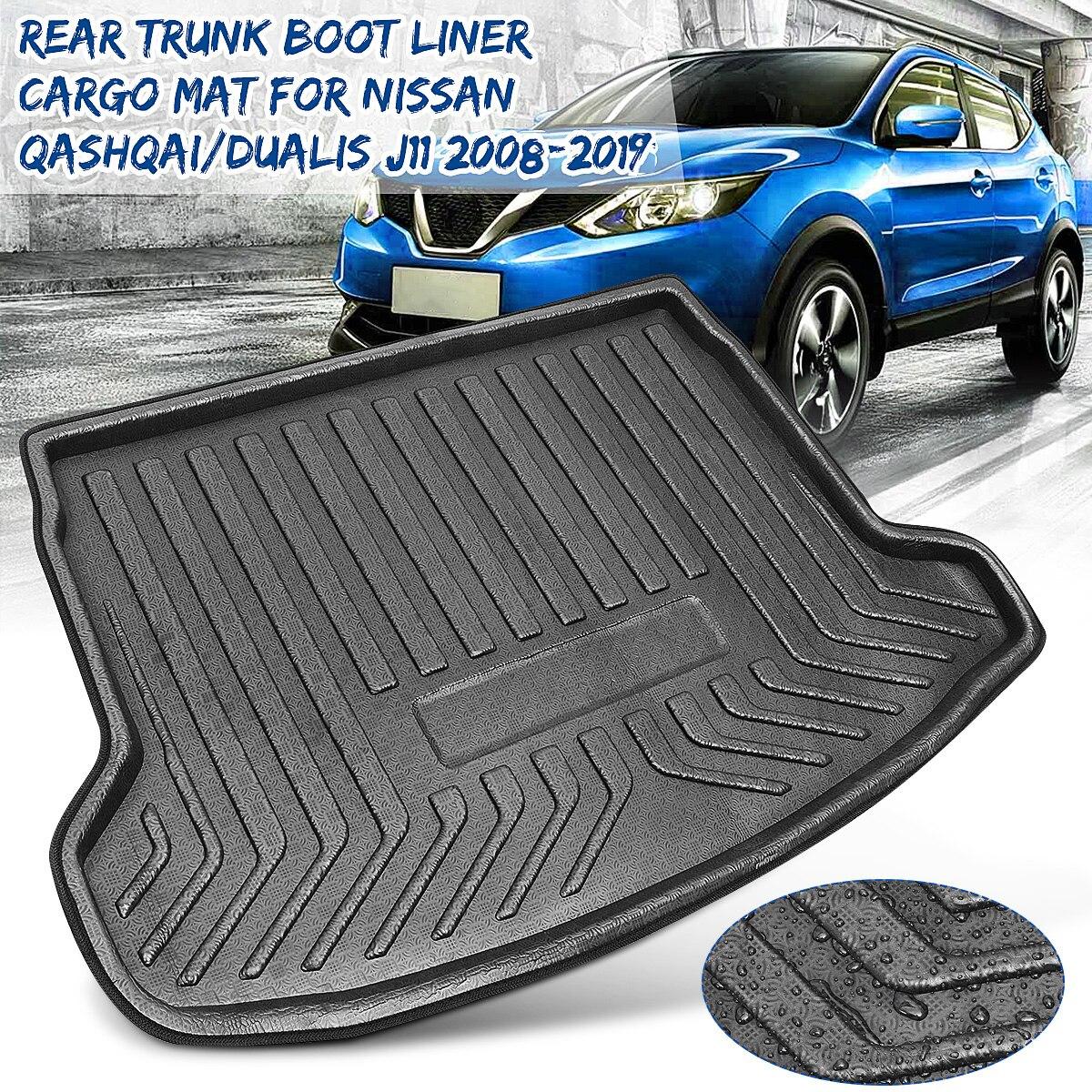 Rear Cargo Boot Liner Trunk Floor Mat Tray Carpet Mats Mud Kick For Nissan Qashqai / for Dualis J11 2008 2009 2010 2011-2019